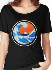 Sunset Hokusai Wave Larger Version Women's Relaxed Fit T-Shirt