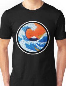 Sunset Hokusai Wave Larger Version Unisex T-Shirt