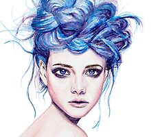 Blue Haired Girl by Joanna Albright