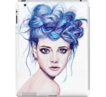 Blue Haired Girl iPad Case/Skin
