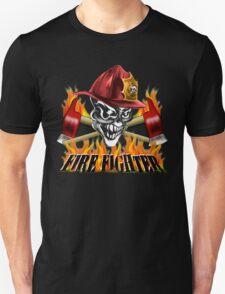 Fireman Skull Unisex T-Shirt