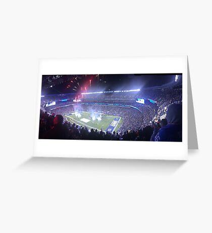 Fireworks overlooking Giants Stadium Greeting Card
