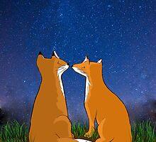 Foxes love by naomileijon