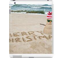 Tropical Christmas Snowman iPad Case/Skin