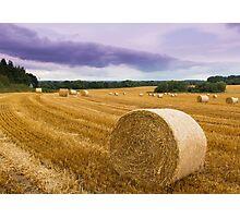 Straw bales Photographic Print