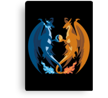 Mega Charizard X and Y: Sillhouettes Canvas Print
