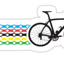 Bike Stripes World Champion (Chain) Sticker