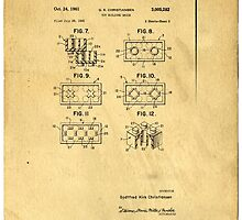 Original Patent For Lego Toy Building Brick by Edward Fielding