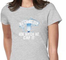 Water Bottle Flip Flipper Challenge Watch Me Cap it! Womens Fitted T-Shirt