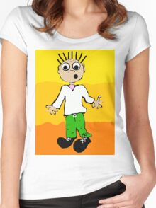 Justin in the sunset Women's Fitted Scoop T-Shirt