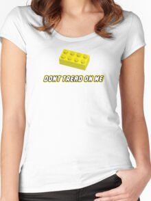 Don't Tread On Me Block Women's Fitted Scoop T-Shirt