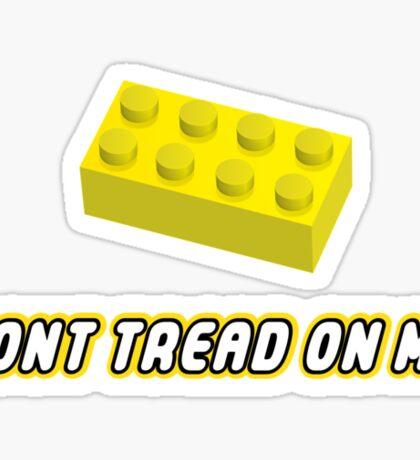 Don't Tread On Me Block Sticker
