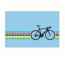 Bike Stripes World Champion (Chain) Art Print