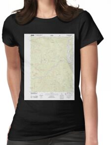 USGS TOPO Map California CA Willow Creek 20120229 TM geo Womens Fitted T-Shirt