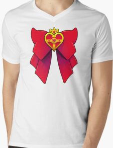 BATTLE BOW Mens V-Neck T-Shirt