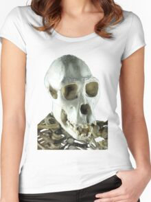 Chimpanzee skull Women's Fitted Scoop T-Shirt