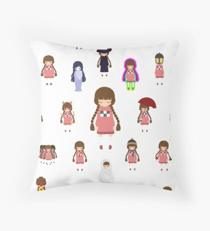 Yume Nikki Throw Pillow