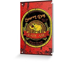 Scurvy Dog Pale Ale Weathered Sign Greeting Card