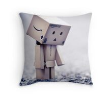wanting her to come back before anyone notices part of the world has not moved since she left... Throw Pillow
