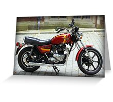 Triumph T140 TSX Greeting Card