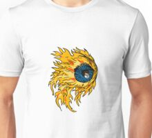 Flaming Eyeball On Fire Drawing Unisex T-Shirt