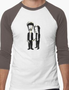 Beavis and Butthead as Jules and Vincent in Pulp Fiction Men's Baseball ¾ T-Shirt