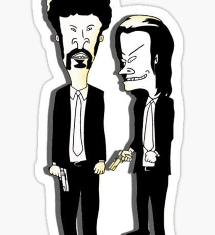 Beavis and Butthead as Jules and Vincent in Pulp Fiction Sticker