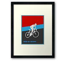 TOUR DE FRANCE; Bike Racing Print Framed Print