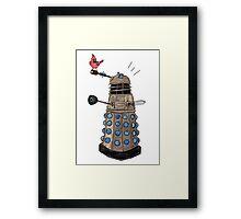 Cardinal vs Dalek Framed Print