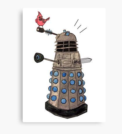 Cardinal vs Dalek Canvas Print