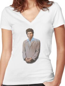 Kramer painting from Seinfeld Women's Fitted V-Neck T-Shirt