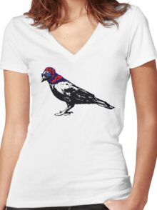 Here's To You Mrs. Raven Women's Fitted V-Neck T-Shirt