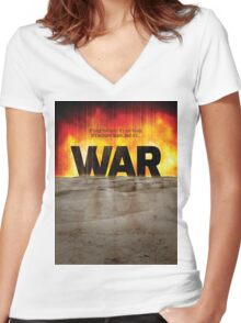 It's War Women's Fitted V-Neck T-Shirt