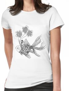 The Flower Princess Womens Fitted T-Shirt
