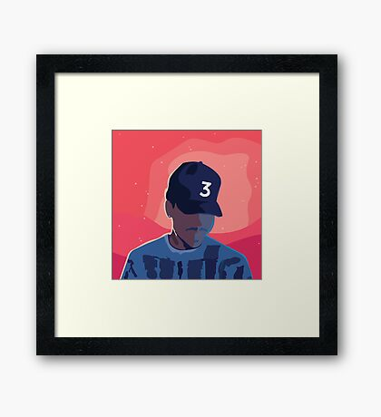 Chance the Rapper - Coloring Book with Background Framed Print