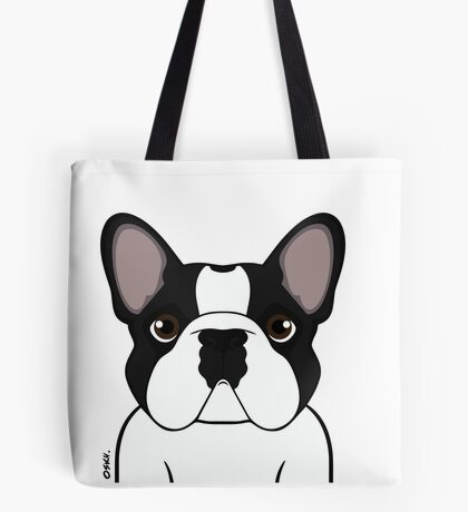 Frenchie - Brindle Pied Tote Bag