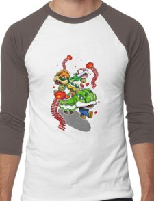 Mushroom Kingdom New Years Lion Dance Men's Baseball ¾ T-Shirt