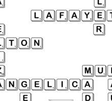 Bananagrams/Scrabble Hamilton Characters  Sticker