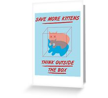 'Think Outside the Box' Greeting Card