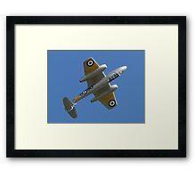 Meteor Over the Top Framed Print