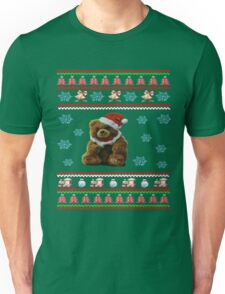 Santa Claus Cute Bear Christmas Dabbing Through the Snow Unisex T-Shirt