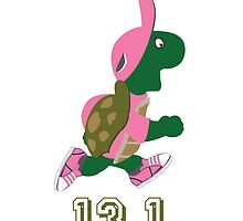 Turtle Runner in Pink 13.1 (half marathon) by Eggtooth