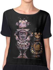 Two Funny Robots Chiffon Top