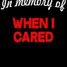 In memory of when I cared by SlubberBub