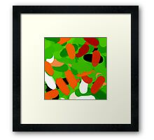 Warm colours, abstract Framed Print