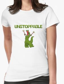 Unstopable T-rex Womens Fitted T-Shirt