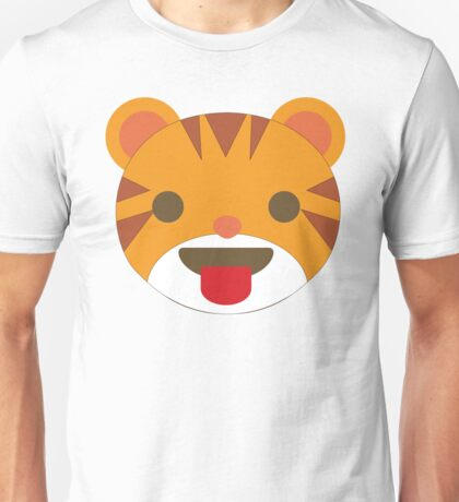 Tiger Emoji Tongue Out Unisex T-Shirt