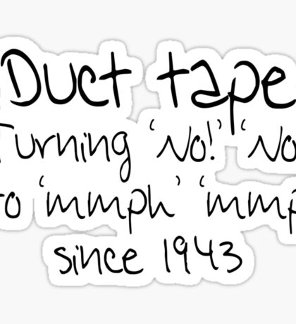 Duct tape Sticker