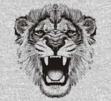 roaring lion t-shirt on lite T-Shirt