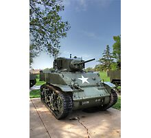 M5 Stuart Light Tank Photographic Print